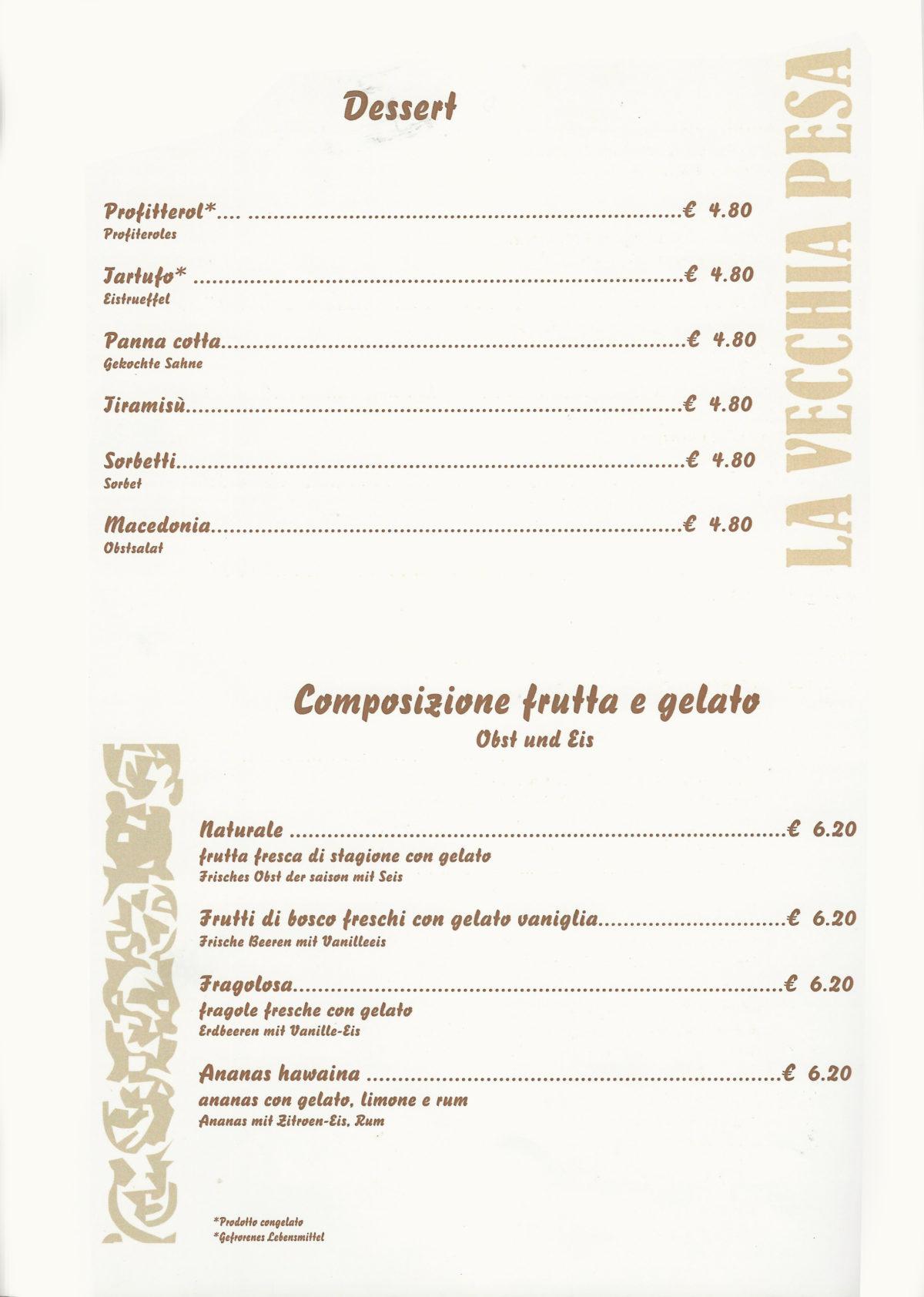 Dessert frutta e gelato Luino
