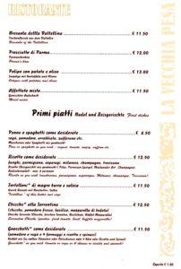 La Vecchia Pesa Luino-Antipasti-Primi Piatti